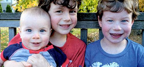 three of Gloria's grandchildren